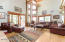 25 foot Great Room with views, doors to screen room and deck