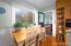 Kitchen breakfast area with large window