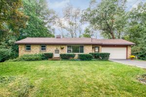 Super cool 50's brick ranch located on a quiet cul-de-sac in the Forest Hills School District. Walking distance to Pine Ridge Elementary School - right in the neighborhood. With a brand new roof (2021) & newer mechanicals, there is incredible 'sweat equity' upside potential. Main floor has a large living room with an expansive front window, custom 50's style kitchen with an eating area, 3 bedrooms all with original hardwood floors, full bath with the yellow & black vintage tile & a 1/2 bath. If you love fun wallpaper this home offers many vintage patterns & colors! Walkout lower level with large recreation room, ceramic tile 3/4 bath & large laundry room. Laundry could be moved to main floor half bath (previous set-up). Large, private lot with flowering trees & bushes. Outstanding home!  OFFERS DUE AT 12PM NOON ON WEDNESDAY. OCTOBER 13TH.