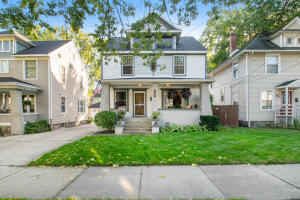 OFFER DEADLINE MONDAY 10/25 @ 12 PM NOON. You must see the desirable features and upgrades wrapped up into this Eastown craftsman! Central walkability to Fulton, Cherry, and Wealthy Street shops, restaurants, breweries, parks, etc. Rare main level open floor plan, with original maintained character feels spacious and welcoming as you enter the home. Indoor living space flows right out to the expansive, private deck complete with pergola, hot tub, fenced yard, and TWO STALL garage wired for 220v! 3 bright bedrooms and a large full bath with whirpool jet tub round out the upstairs of this home. Basement features home gym with an adjacent full bath and laundry, plus workshop/storage space. SEE LIST OF UPGRADES. Newer electrical, plumbing, windows, roof, mechanicals, appliances...list goes on!