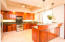 Tropical hardwoods and stainless appliances