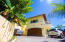 Entrance to Villa Delfin - includes a 2 car garage