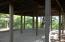Inside pavilion concrete floor