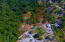 Aerial view of the hillside lots and their location. Please note this listing is for lot