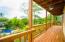 Upper patio that