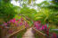 Lush tropical gardens are seen through out the community