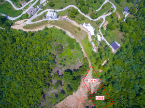 Aerial view of Coral View lot 106B - please not this listing is only for lot 106B