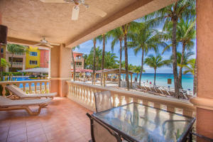 Stunning ocean views rom this large private patio.