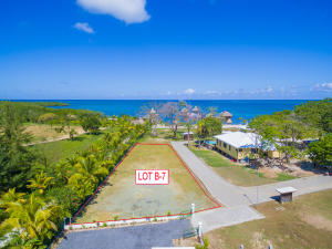 Lot B7 is steps away from the beach