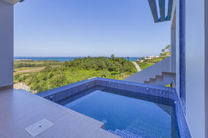Stunning ocean views from the plunge pool