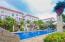 The tranquil pool at La Sirenas