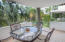 Spacious patio has views of the pool