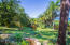 Lush tropical gardens with lush fruit trees surround the property
