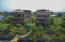 Aerial view of Mangrove Dock condos from the water