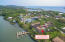 Aerial view of Mangrove Dock condos in Mangrove Bight and a view of West End