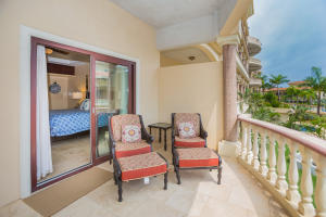 Spacious patio that has access to the main living area and the master bedroom.