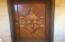 Inlaid hardwood entry door