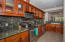 Spacious kitchen with high end appliances.