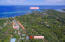 Aerial view of Banana House located above Sunset Villas in West End, Roatan.