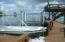 Boat on side of dock