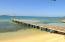 Beach and dock at Ahau beach.