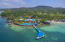 Aerial view of the Mansion at Caribe Tesoro from the sea