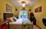 Luxury queen bed, air conditioner, fan