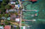 Aerial view of Splash Inn, including the dock - please see the layout of the 2 lots that make up this property.