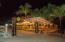 The palapa bar at night