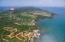 Aerial view of Pangea Beach and the surrounding areas