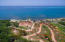 Aerial view of Pangea Beach, please note only lot B1 is for sale in this listing.