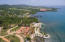 Aerial view of Pangea Beach, please note only lot B2 is for sale in this listing.