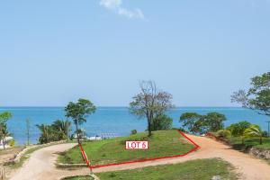 Clear ocean views from hillside lot 5
