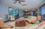 Tastefully furnished open concept living area
