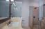 Master bathroom has both a bath tub and shower