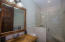 The bathroom in the 1 bedroom apartment.bedroom apartment