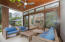 The indoor living space blends with the outdoor living space
