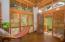 screened in zen hammock area