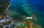 Aerial view of this 0.12 acre oceanfront lot.