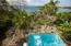 View across pool to ocean