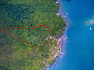 Aerial view of this 6 acre waterfront property