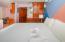 The bedroom area in the Seahorse Condo