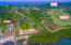 Aerial view of Coral Views and proximity to the Pristine Bay golf course
