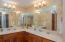 Double vanities in the master bathroom
