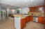 This spacious kitchen has imported appliances and lots of counter space