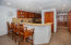 Breakfast bar in the kitchen