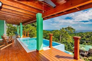 with Pool, Dixon Cove, 2 Bed 2 Bath Ocean View Home, Roatan,
