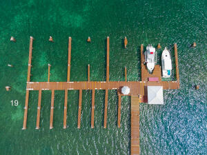 Aerial of the Lawson Rock Marina - please note only slip 19 is for sale in this listing
