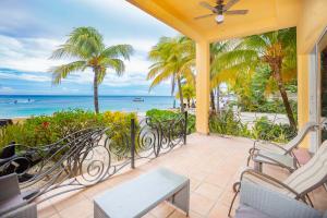 Private beachfront patio