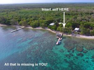 Stingray Point Dive Site, 0.31 Acre Oceanfront lot, Utila,
